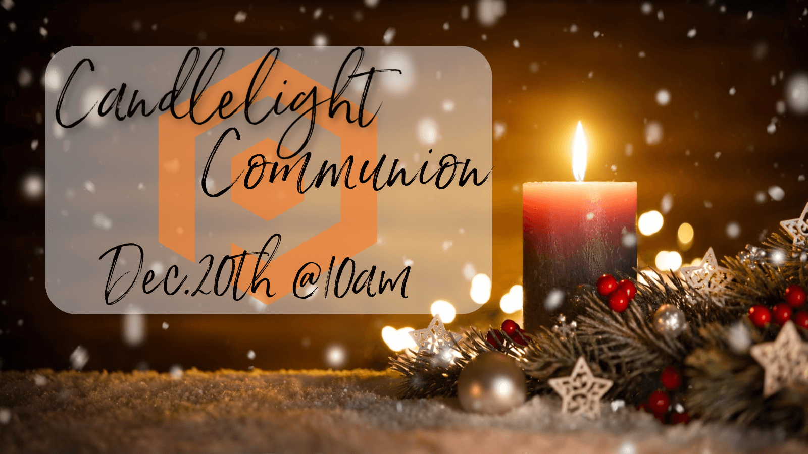 Candlelight and communion flyer