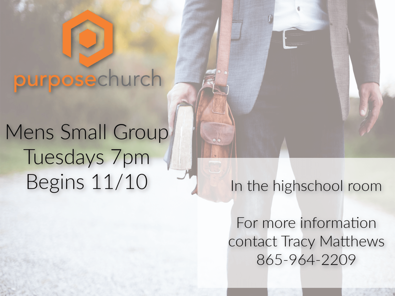 Men's Small Group Flyer
