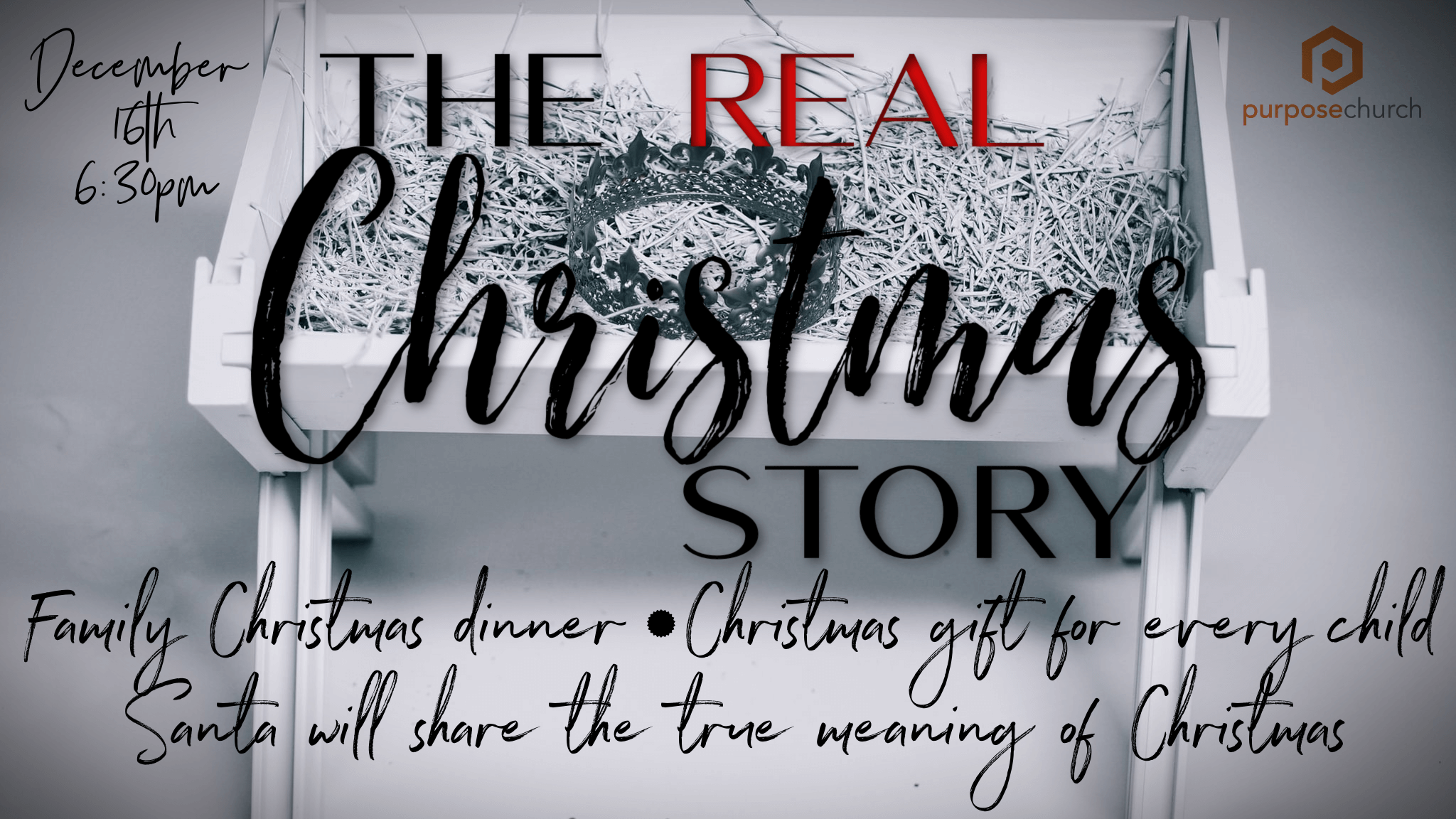 The Real Christmas Story Flyer